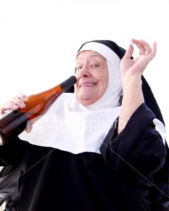 happy-nun-drinking